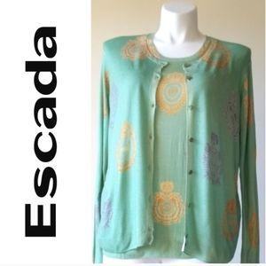 Escada Sport Top Blazer Set 100% wool  - Size XL